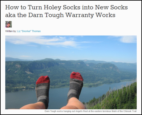How to Turn Holey Socks into New Socks aka the Darn Tough Warranty Works   Liz Thomas  Long Distance Adventure Hiking