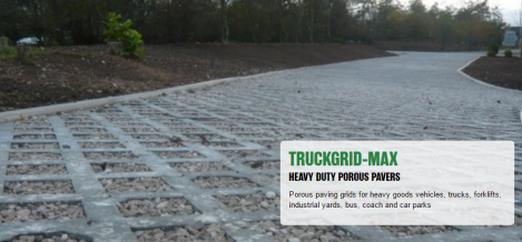 TRUCKGRID MAX   Permeable Paving   Trucks  HGV s  Forklifts  Bus  Coaches  Cars