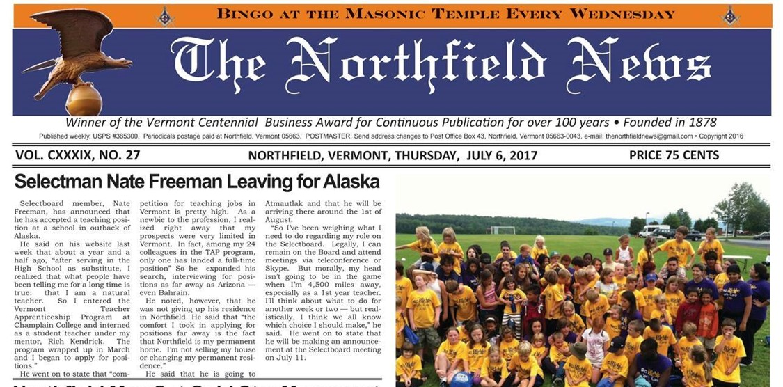 Northfield News:  Not Local, Not Original, Not News